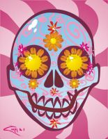 Groovy Skully for Inky by zombieater