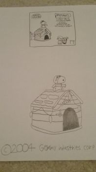 Airblown Inflatable Snoopy on doghouse by Gemmygod