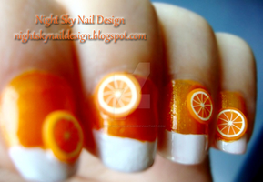 31 Day Challenge, Day 2: Orange Nails by nightskynaildesign