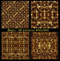 Sepia : 29 patterns 400x400 by PhotoComix2