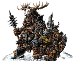 Orc Heavy Infantry- Color by vikingmyke