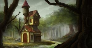 House in jungle by AllenLimCy