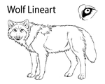 Wolf Lineart by TheMysticWolf