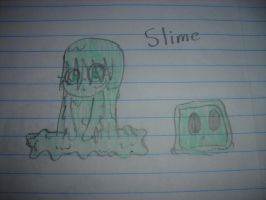 MineCraft - Slime Girl by Waddle-Dance
