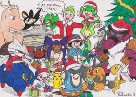 Pokemon Best Wishes Christmas COLOURED by Rohanite