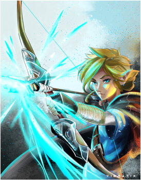 Link: Breath of the Wild by Vibratix