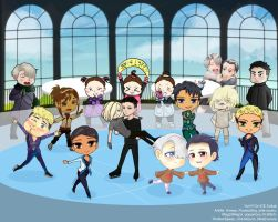 Yuri on ICE SUPER COLLAB by poppyrous