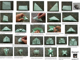 Origami Turtle instructions by lantern77