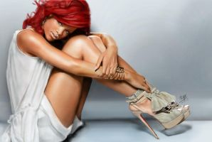 iPad finger painting of Rihanna by chaseroflight
