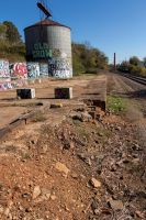 Asheville Arts District Railroad by Lighttwister