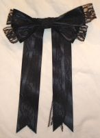 Black Hair Bow by racehorse87-stock