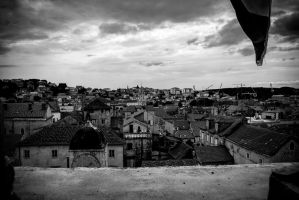 Trogir above the roofs by KURCMAN