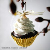 Mini Cupcake Ornaments by CreativeAbubot
