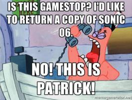 This is Patrick: Sonic 06 by lightyearpig