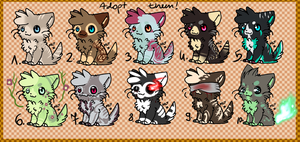 | Adoptable 1 - Cats! OPEN | by reed-a