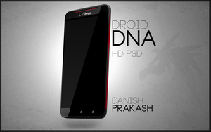 HTC Droid DNA slant [psd] by danishprakash