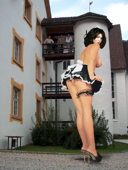 Mandy Moore Maid Giantess by warpa