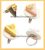 Pudding Pie Rings by MelodyMaid