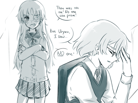Drawing Challenge OTP (Day 3 - Teacher and pupil) by Mercurius-San