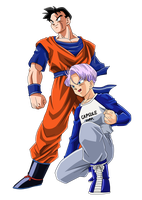 Future Gohan and Trunks Color by BoScha196