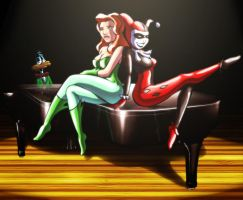Harley Quinn, Poison Ivy and.. by Zlydoc