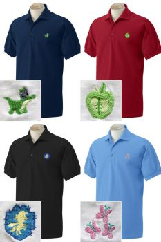 Embroidered Polos by mylittleplushie