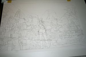 Tomb Raider lineart by Angelstorm-82