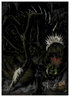 Ungoliant and Morgoth by palantir6
