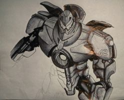 Gipsy Danger (unfinished) by Kurajia
