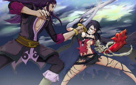 Yuri vs Velvet: Tales of Two Game Protagonists by AndrewChaconArt