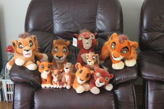 All my Kovu plushies by Laurel-Lion