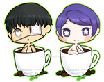 [FA] Tsukiyama and Kaneki in a cup by inkblot-wolf