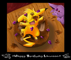 .: Happy Belated B'day :. by Kyrara