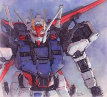 Aile Strike Gundam watercolor by Trunnec