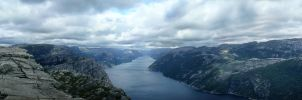 Lysefjord panorama by compot-stock
