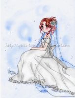 Wedding dress -color- by Yuki-Lumino