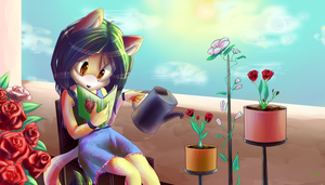 AT .:Rose-girl:. by VallionShad
