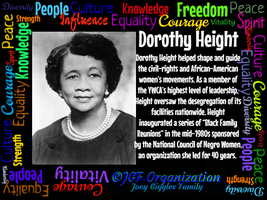 JGF Dorothy Height - Black History Month by Kimberly-at-JGF