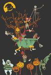 The Tottering Town of Halloween by beezle-tea