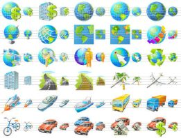 Travel Icon Set by Ikont