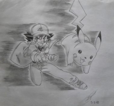 [05-03-12] Pikachu and Ash by Enio-Gonzalo