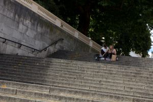 Couple on the Steps by JackShelbourn