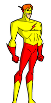 Kid Flash via Hero creator by Gwhitmore