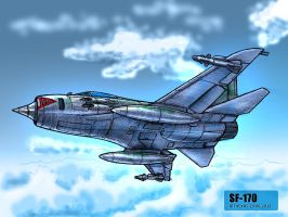 SF-170 in flight by TheXHS