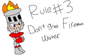 The 5 Rules of Fireman #3 by SRN001Terra