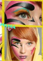 manga inspired make-up by yafutoo
