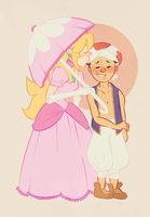 peach n toad by kindergraph
