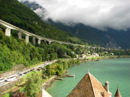 Viaduct in Switzerland by Wiwii