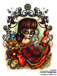 Dia De Muertos Madonna - Colored by JadeDragonne