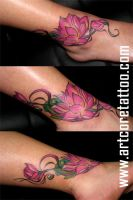 flower tattoo by EvlogievaPetja